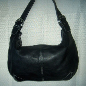 *SALE! Tigbags Black Leather Hobo Bag